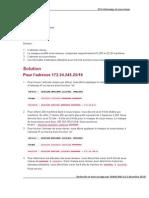 Exercices et correction adressage IPV4