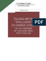 Talang Air Galvanis 087770337444