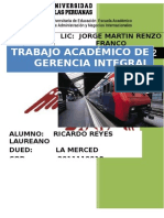t. a. Gerencia Integral. 2015- II