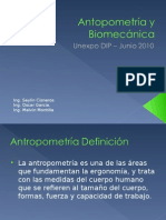 AntopometriA y BiomecaNica
