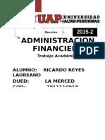 Ta. Administrac Financiera 2015-2 Cod 2011110918