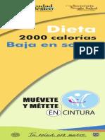 Dieta 2000 calorías Baja en Sodio
