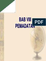 Bab Viii, Pemadatan