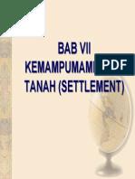 Bab Vii, Pemampatan Tanah