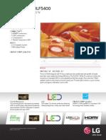 LF5400 FHD Spec Sheet