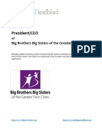 Big Brothers Big Sisters of the Greater Twin Cities - President-CEO - Position Profile