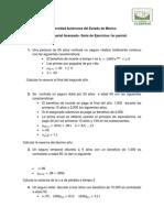 Serie de Ejercicios Primer Parcial Calculo Actuarial Avanzado