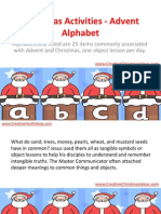 Christmas Activities - Advent Alphabet