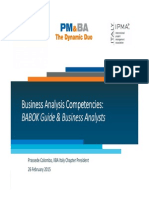 Business Analysis Competencies BABOK Guide Amp