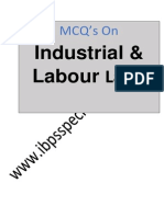 MCQ's on Industrial,Labour and General Laws