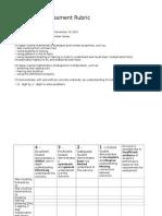 formative assessment rubric math