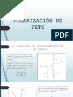 Polarización de Fets