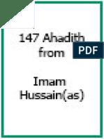 147 Ahadeeth From Imam Hussain as.