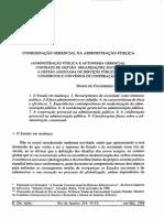 Diogo de Figueiredo Moreira Neto- Coordenação gerencial na administração pública
