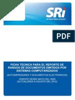 Ficha Técnica Reporte Rangos (Dcmtos Electr)