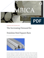 The Increasing Demand for Stainless Steel Square Bars