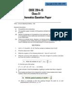 Maths CBSE 2014 Sample Paper - 2