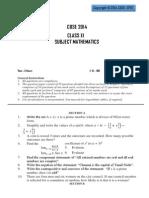 Maths CBSE 2014 Sample Paper - 3