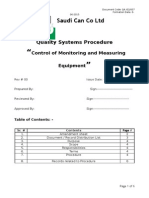 control of Monitoring and Measuring Equipment.docx