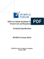 IP MPLS Forum Mobile Backhaul