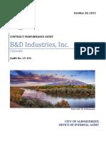Internal Audit CABQ B&D Industries Inc -15-101-city-cb