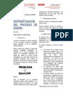 Sistematizacion Del Proceso de Diseño