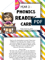 Y2 Phonics Reading Card