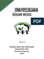 Buku Pedoman Penyelenggaraan Rekam Medis Oke Lho