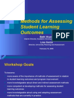 Methods for Assessing Workshop