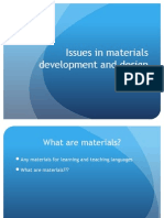 Issues in Materials Design-