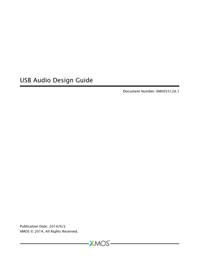 USB Audio Software Design Guide | Usb | Input/Output