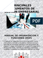 Principales Documentos de Gestion Empresarial