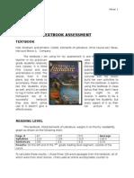 textboook assessment