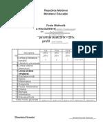 Foaie Matricola Model Editabil