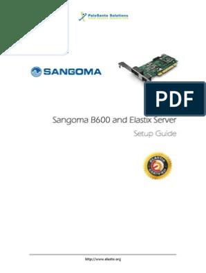 Sangoma-b600 Interfacecard Setupguide   Interactive Voice