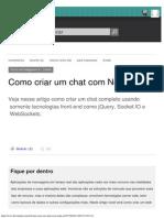 Como Criar Um Chat Com Node.js