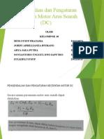 Pengendalian Dan Pengaturan Kecepatan Motor Arus Searah (