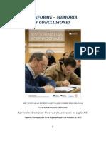 Informe Memoria y Conclusiones Xiv Jornadas Definitivo Con Foto