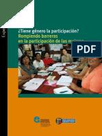 8.- ¿Tiene Genero la participación? Rompiendo barreras en la participación de las mujeres