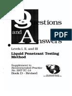 PT ASNT Levels I II III Questions Answers 1