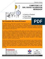 Competency of Dial Gauge Calibration Workshop