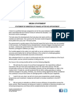 Statement by Minister Gordhan