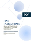 FINE FABRICATORS Broiler Feasibility for 30,000