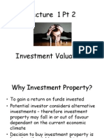 Investment Property Vals Lect 1 Pt 2 Valuation and Surveying 2015-16