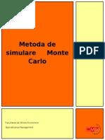 Metoda de Simulare Monte Carlo