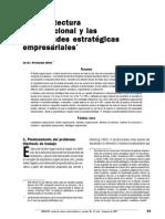 Arquitectura organizacional y capacidades estrategicas