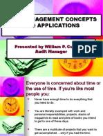 Auditor 301 001 Time Management