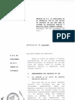 Proyecto de desmunicipalización.