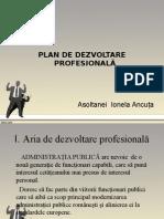 Plan de Dezvoltare Profesionala