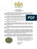 Governor Wolf Proclamation -- National Public Lands Day, 2015